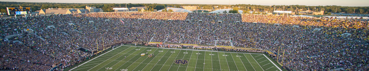 Fans and players gather for a football game sept. 6%2c 2014%2c at notre dame stadium in south bend%2c ind 140906 d kc128 220