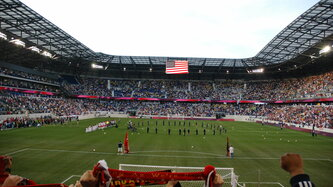 Red bull arena harrison behind goal