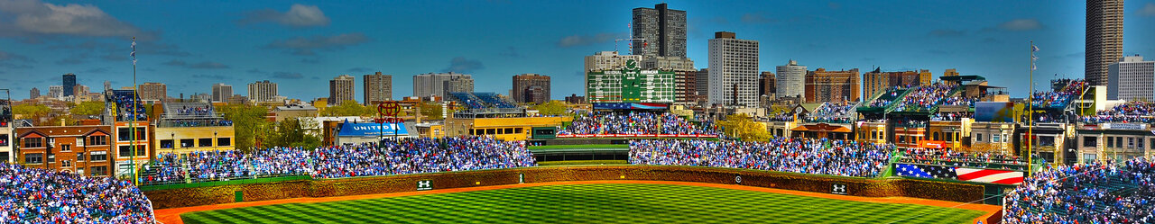 Chicago cubs ballpark wrigley field chicago illinois wallpaper