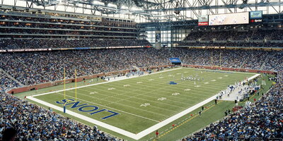 Ford field nfl lions interior