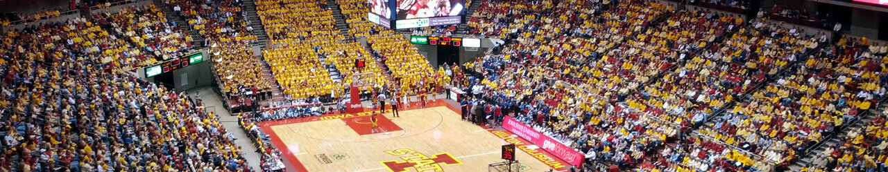 Hilton coliseum inside view